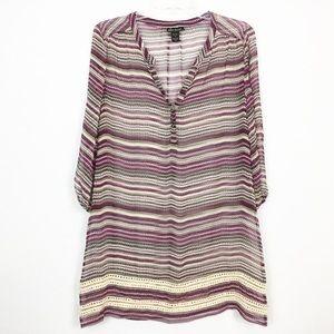 Ella Moss Silk Crochet Beach Cover Up Dress
